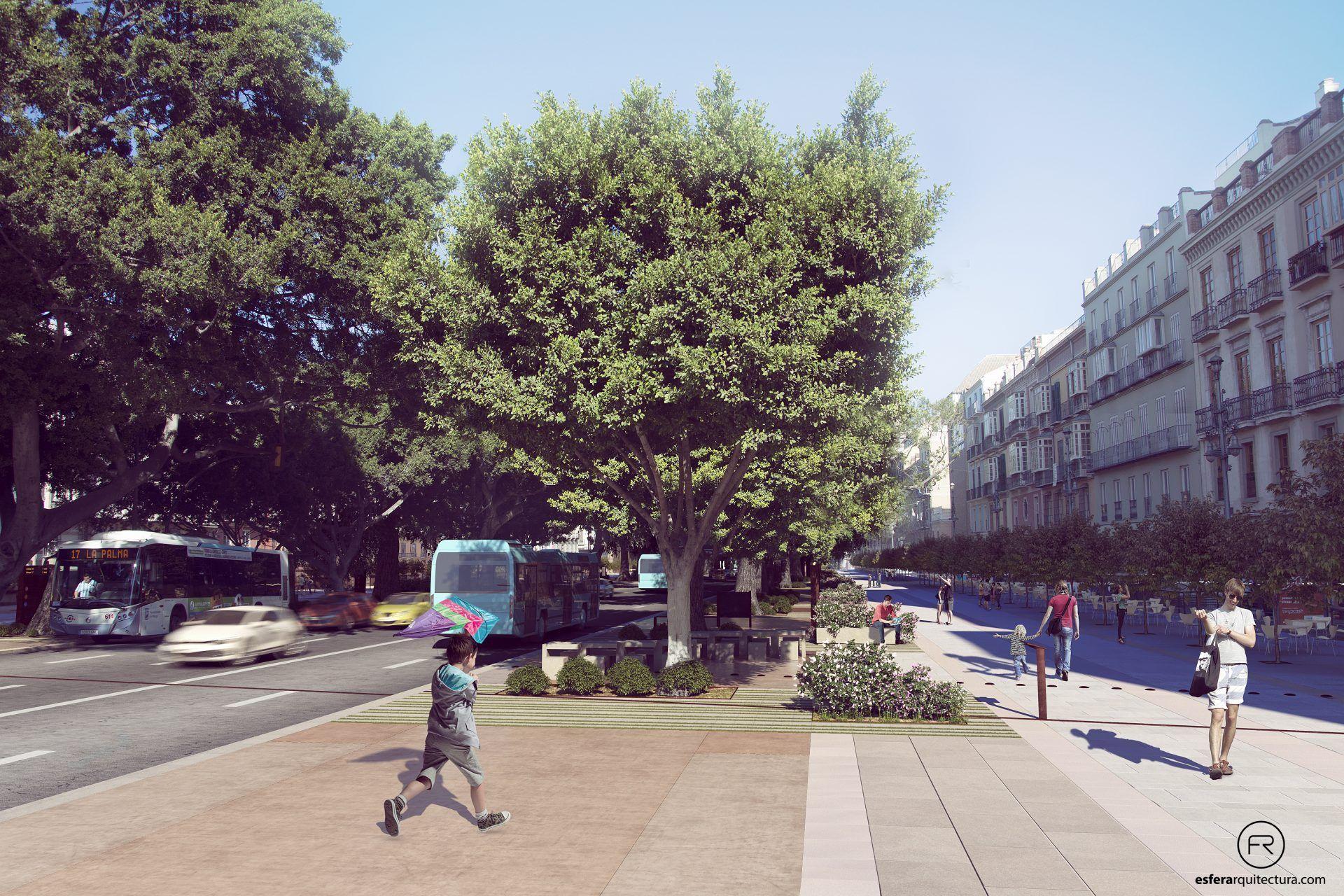 Diseño urbano Alameda Principal de Málaga