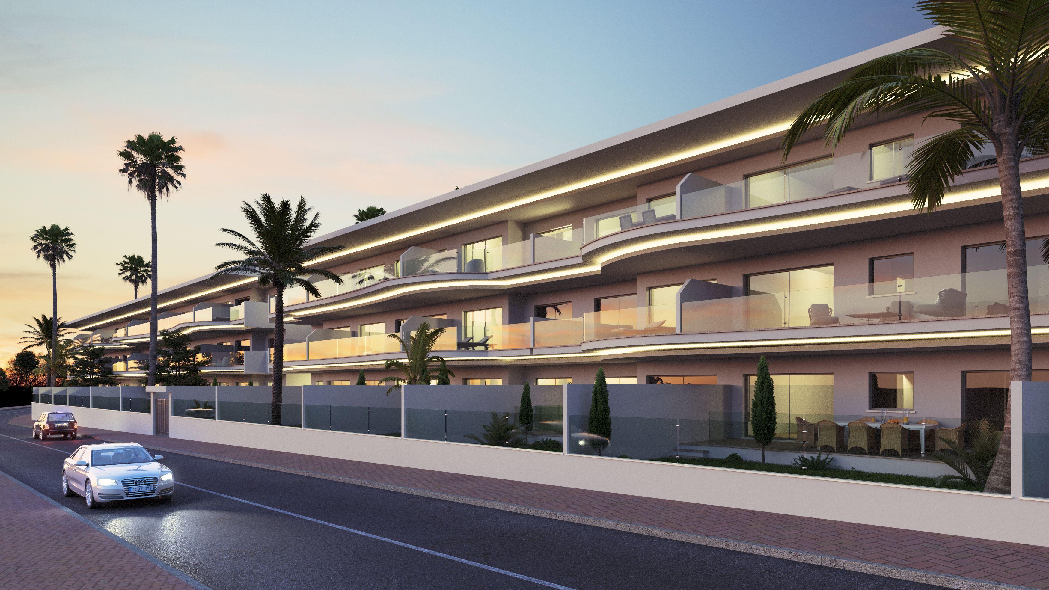 Infografía 3D Urbanización Santangelo Benalmádena Malaga
