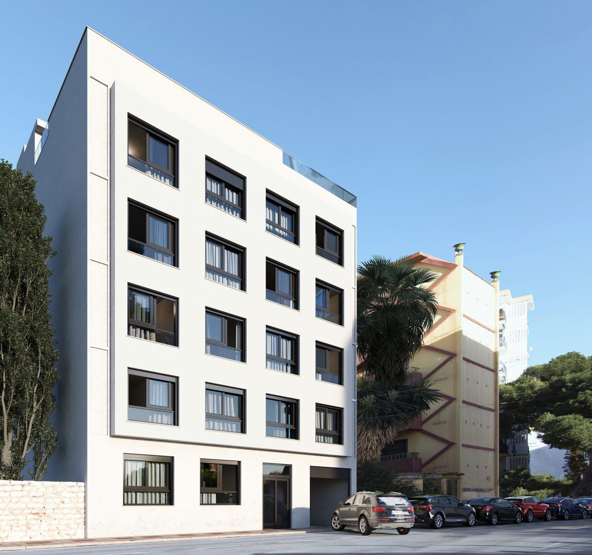 3D Render and real estate marketing project for two apartment buildings in Torremolinos (Malaga).