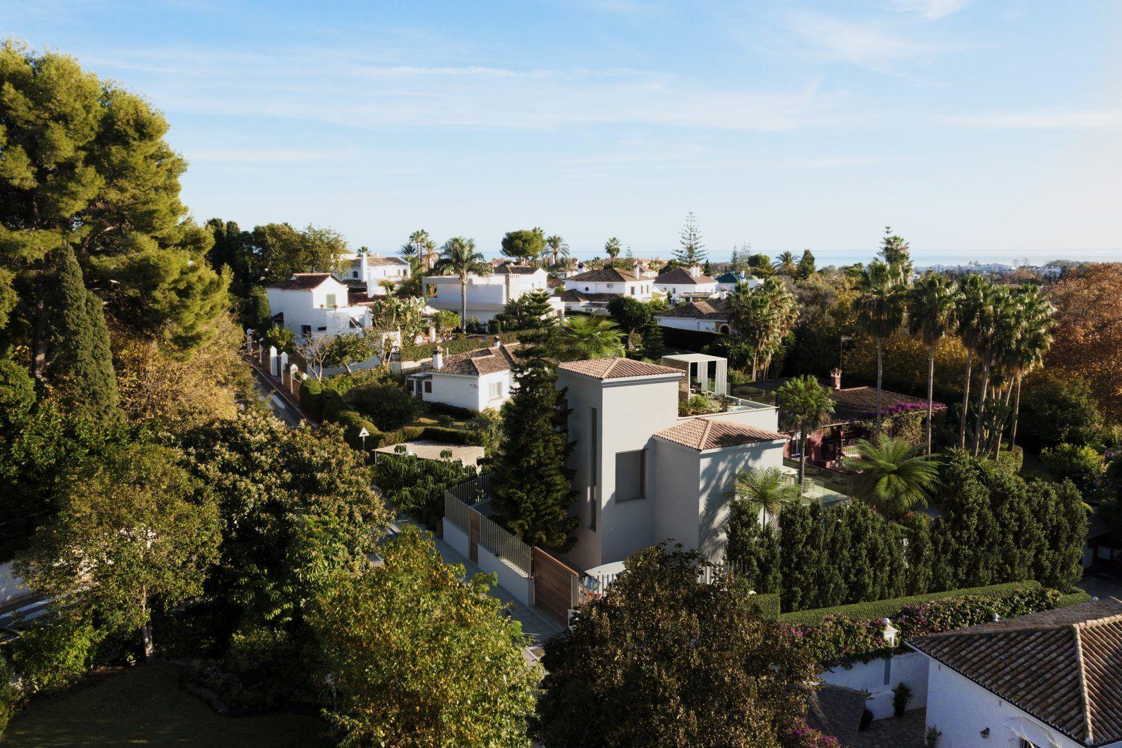 Infografías 360 para Villa Los Cipreses en San Pedro de Alcántara (Marbella).